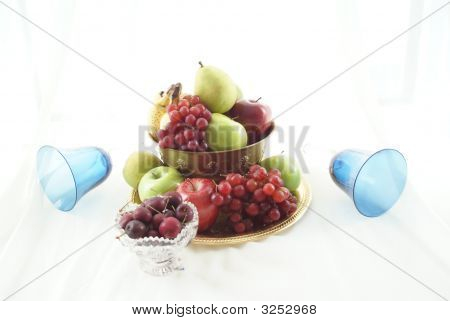 Goblets And Fruit