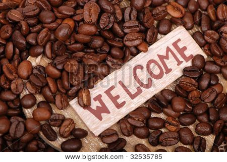 Background of coffe beans