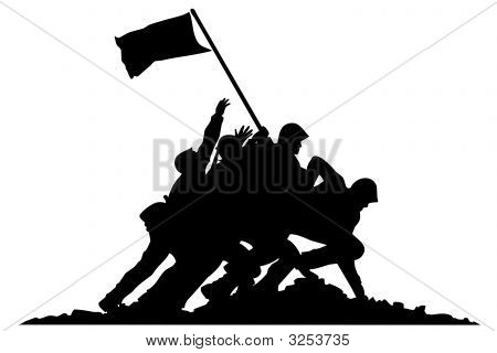 Soldiers With Flag