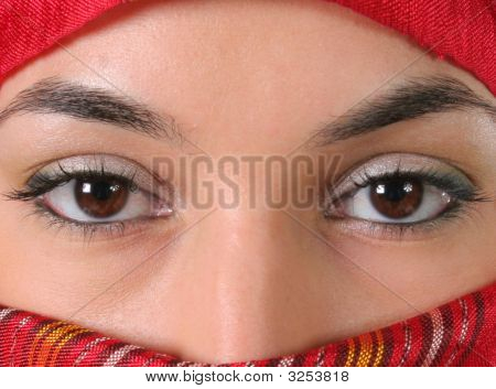 Sensual Female Eyes, Arabic Style