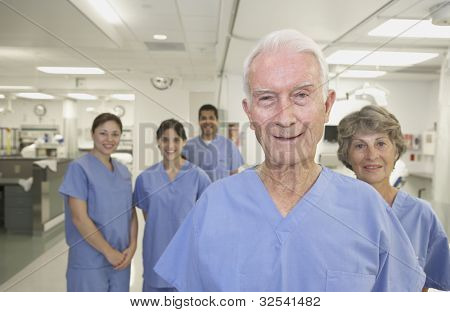 Healthcare professionals in hospital setting