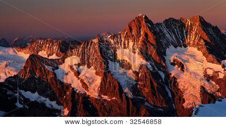 Schreckhorn Peak (4078m), Berner Oberland, Switzerland - UNESCO Heritage