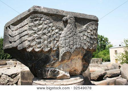 Eagle Statue In Zvartnots Cathedral Ruins