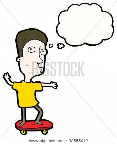 boy skateboarding cartoon