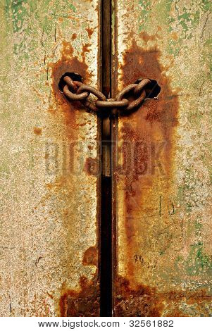Chained Rusty Door or Gate