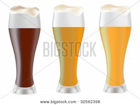 Three Glass With Beer