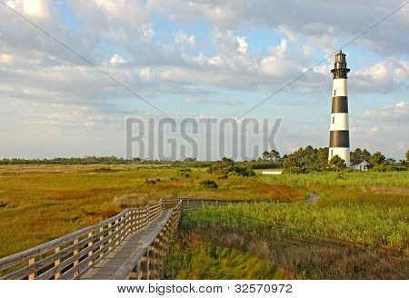 The Bodie Island Lighthouse On The Outer Banks Of North Carolina