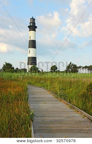 The Bodie Island Lighthouse On The Outer Banks Of North Carolina Vertical