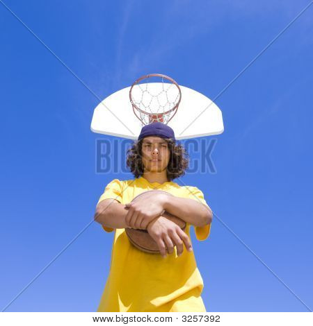 Teen Basketball Player