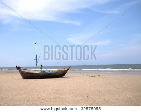 Old Fisherman Boat At The Beach
