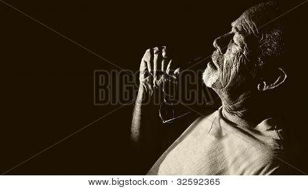 Senior man relaxing