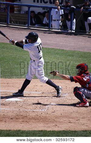 Scranton Wilkes Barre Yankees batter DeWayne Wise