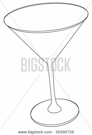 Vektor-Illustration von cocktail-Glas