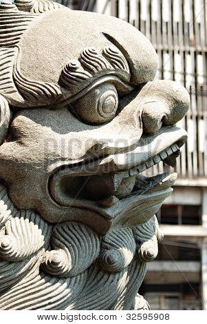 Shishi, Chinese Guardian Lion Statue Details
