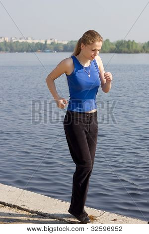 runners - woman running outdoors