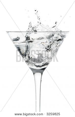 Cocktail Glass With Splash Motion