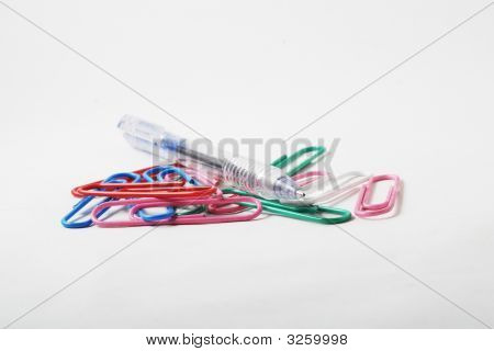 Paper Clip With Pen