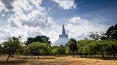 The Landscape Around The Mahatupa Big Dagoba In Anuradhapura, Sri Lanka. poster