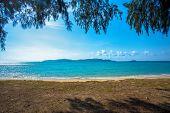 Sea Wave Foam On Karon Beach Phuket Thailand. Exotic Paradise Of Thailand Beach Asia. Peaceful Ocean poster