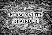 Personality Disorder. Torn Pieces Of Paper With The Words Personality Disorder. Concept Image. Black poster