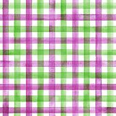 Watercolor Stripe Plaid Seamless Pattern. Colorful Green Pink Purple Stripes Background. Watercolour poster