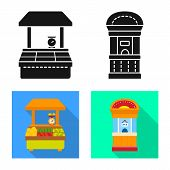 Isolated Object Of Amusement And Store Sign. Collection Of Amusement And Urban Vector Icon For Stock poster