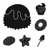 Vector Illustration Of Sweetness And Product Sign. Collection Of Sweetness And Sweet Stock Vector Il poster