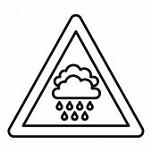 Attention Flood Icon. Outline Attention Flood Vector Icon For Web Design Isolated On White Backgroun poster