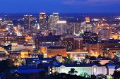 stock photo of alabama  - Metropolitan Skyline of downtown Birmingham - JPG