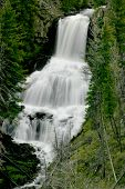 stock photo of undine  - undine falls at yellowstone national park - JPG