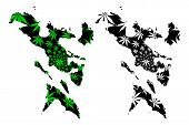 Bicol Region (regions And Provinces Of The Philippines, Republic Of The Philippines) Map Is Designed poster