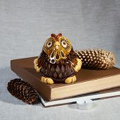 Ceramic Owl - A Lamp. A Candle Is Inserted Inside. Handmade Ceramic Glazed Owl poster