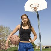 Teen Girl With Basketball