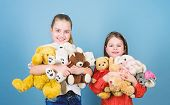 Happy Childhood. Child Care. Sisters Best Friends Play. Sweet Childhood. Childhood Concept. Softness poster