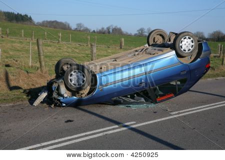 Crashed Car Upside Down
