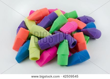 Colorful Pencil Erasers