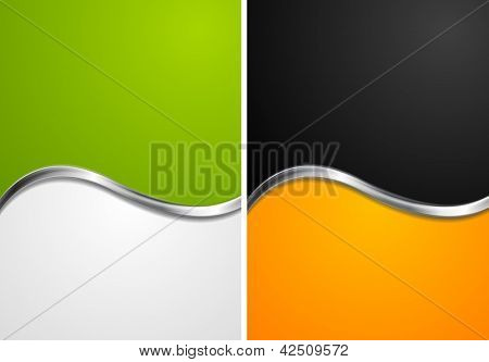Elegant abstract wavy backgrounds. Vector design eps 10