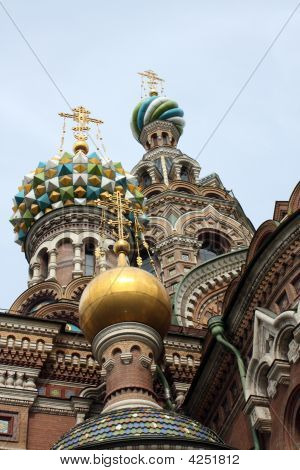 View Of The Saviour Of The Spilt Blood Cathedral In St. Petersburg