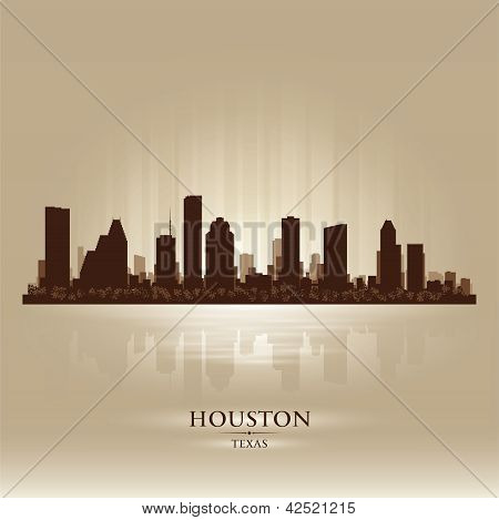Silhueta de Houston Texas Skyline cidade