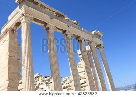 Columns Of Erechtheum Temple