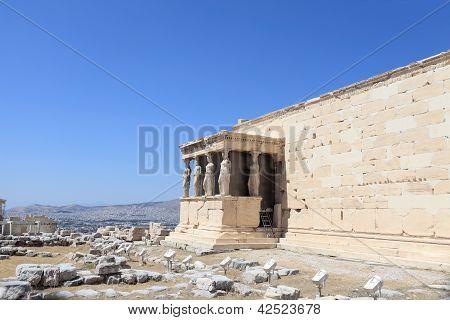 Fragment Of Erechtheum Ancient Temple