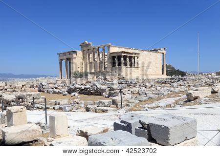 Front Of Erechtheum Ancient Temple