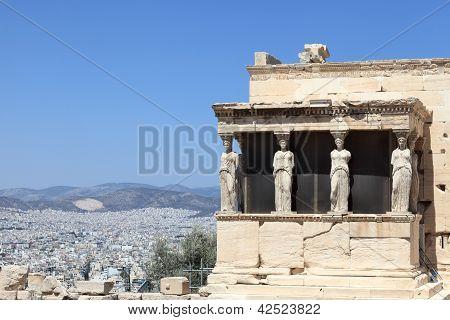Sculpture Of Erechtheum Greek Temple
