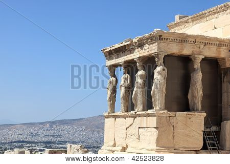Sculpture Of Erechtheum Temple