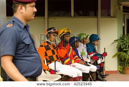 Jockeys at Hyderabad Race Club