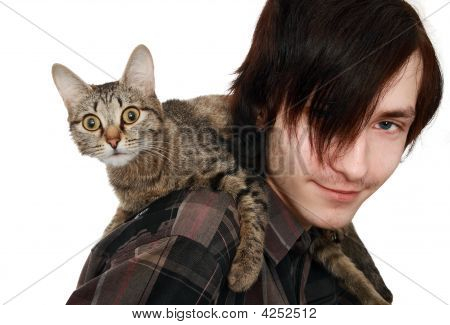 The Young Man With A Cat