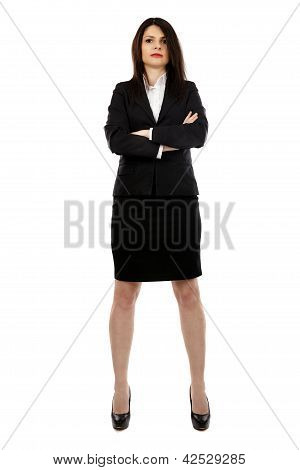 Full Length Pose Of Confident Businesswoman