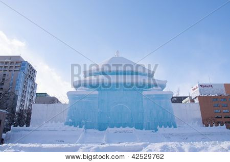 The National Chiang Kai-shek Memorial Hall(taiwan) at Sapporo Snow Festival 2013