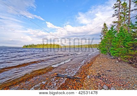 Gentle Waves On A Wilderness Lake