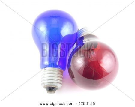 Red And Dark Blue Lamps